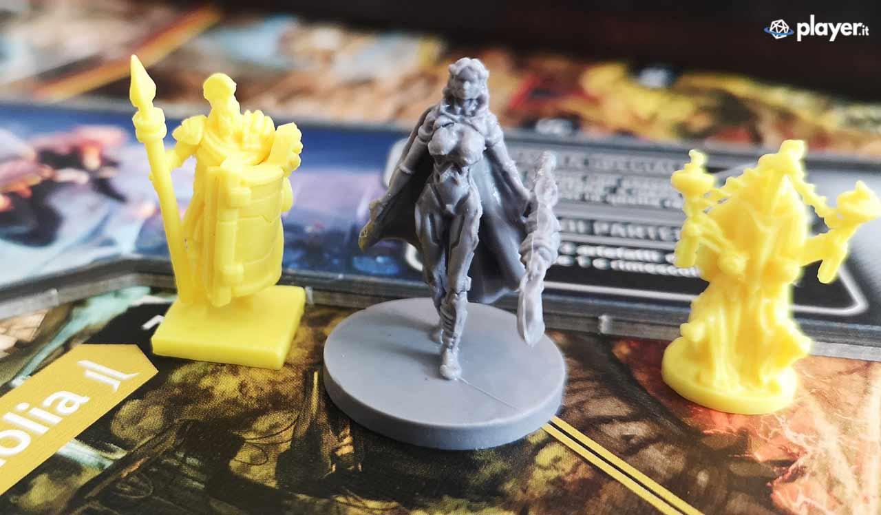 lord of hellas gioco da tavolo miniature piccole gialle
