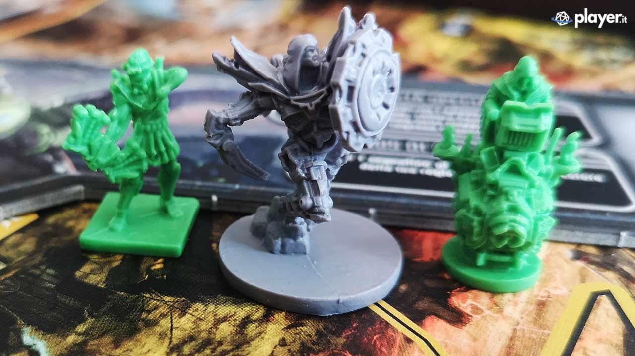 lord of hellas gioco da tavolo miniature piccole verdi