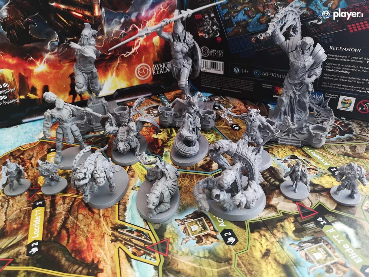 lord of hellas gioco da tavolo miniature panoramica