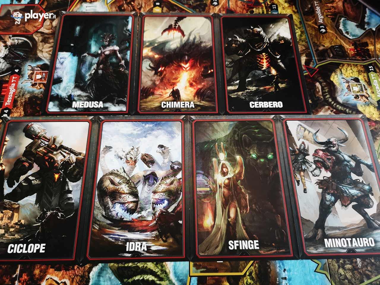 lord of hellas gioco da tavolo carte