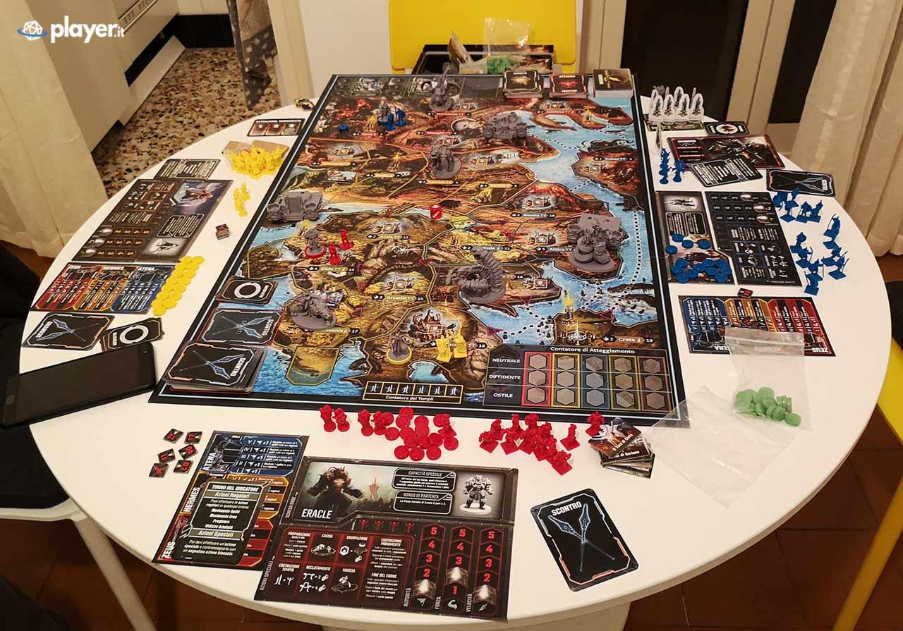 lord of hellas gioco da tavolo - tavolo di gioco