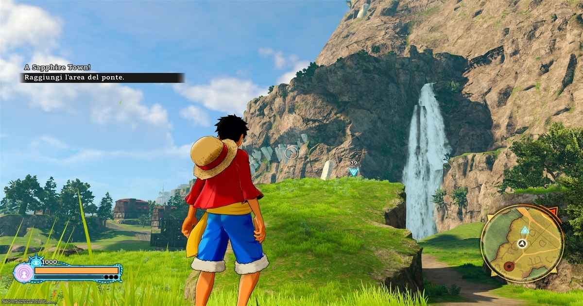 la mappa di gioco di one piece: world seeker
