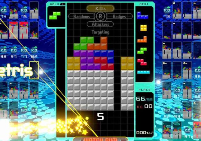 tetris 99 gameplay screensho
