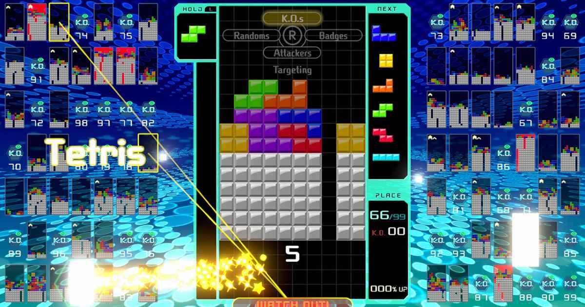 tetris 99 gameplay screensho