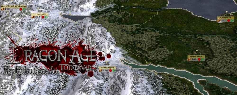 total war dragon age screenshot mappa di gioco