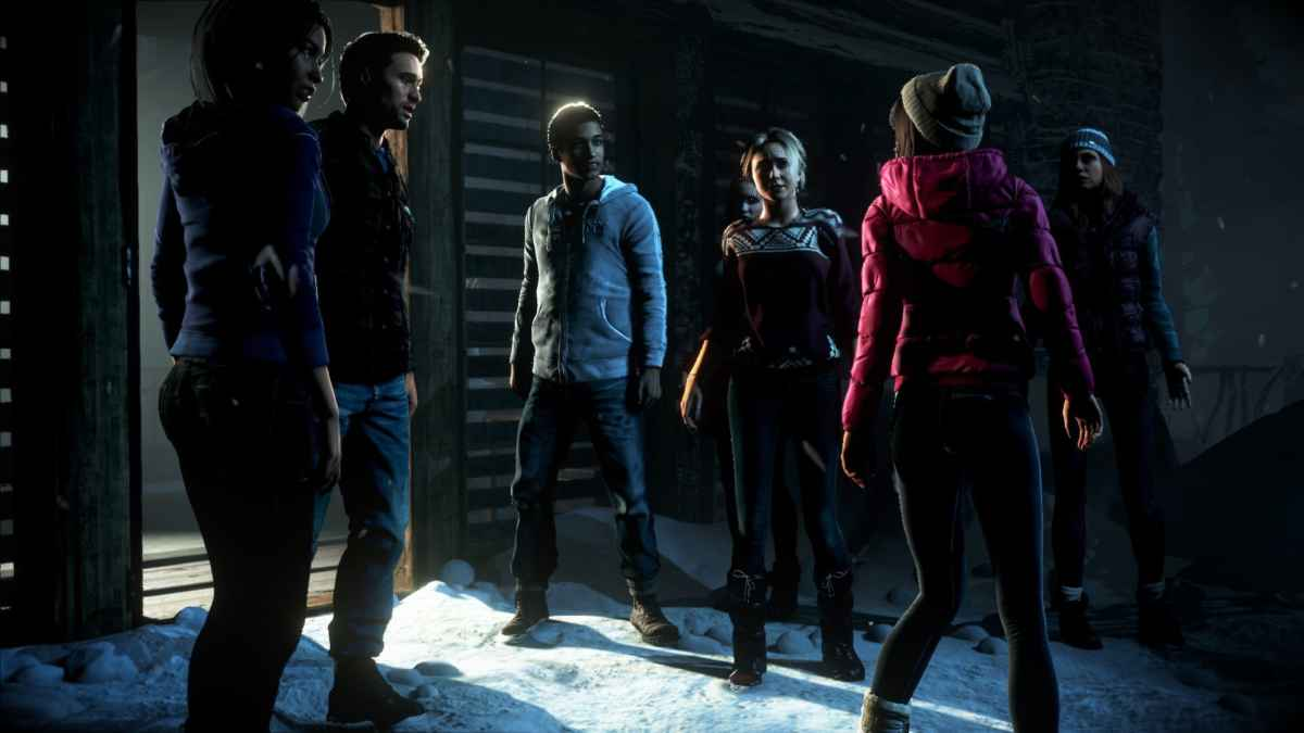 Screenshot che rappresenta i protagonisti di Until Dawn