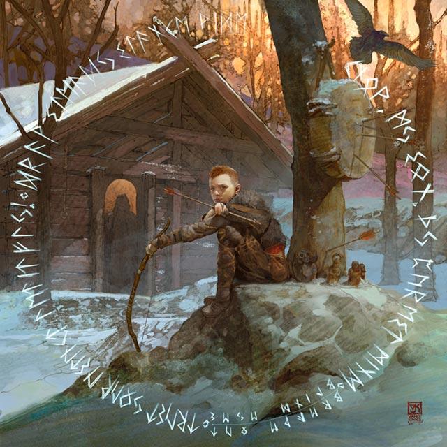 L'addestramento di Atreus, che si allena con arco e frecce sotto la guida della madre
