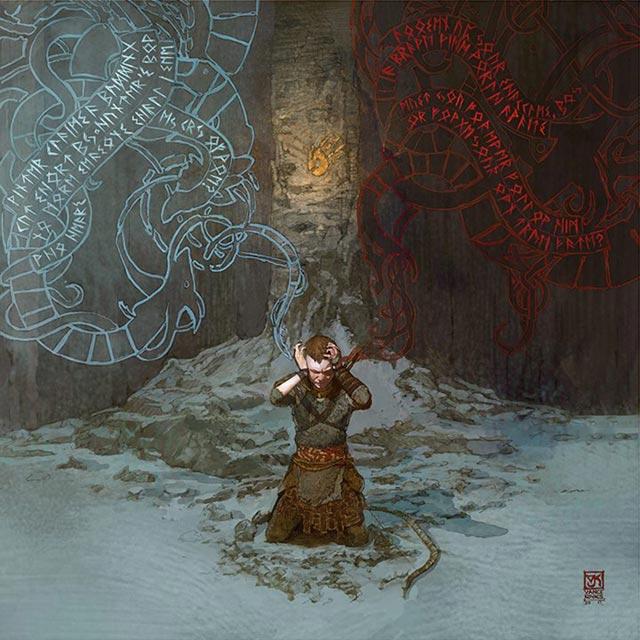 Due voci sovrannaturali si contendono l'attenzione di Atreus, una rossa e una blu