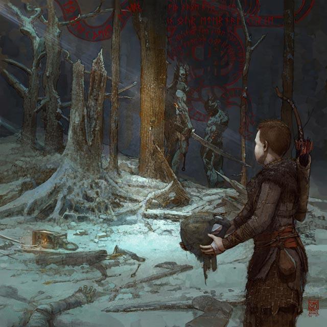 I Draugr attaccano Atreus che vaga nella foresta