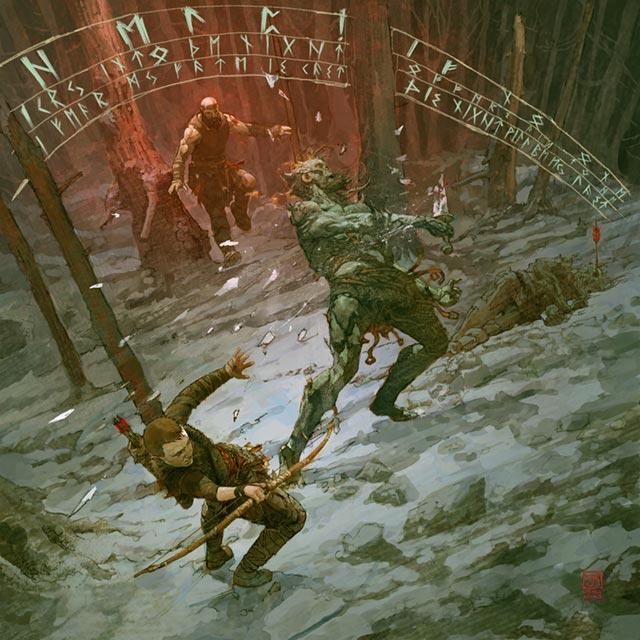 La carica di Kratos che accorre a salvare il figlio Atreus dai Draugar