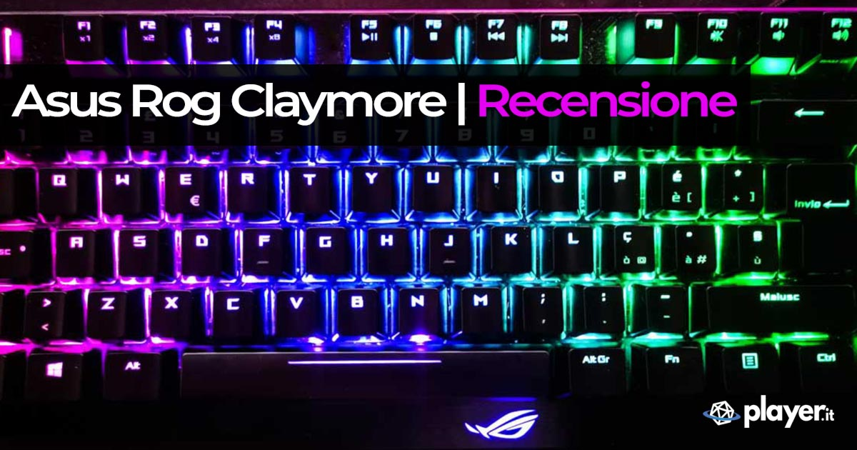 Recensione Asus Rog Claymore tastiera meccanica switch cherry mx red