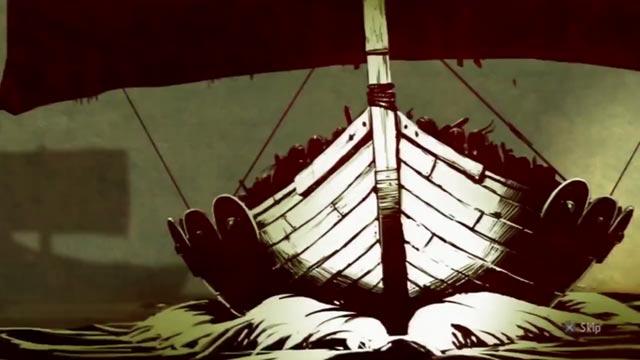 Una vera e propria drakkar vichinga nell'intro di Viking: Battle for Asgard