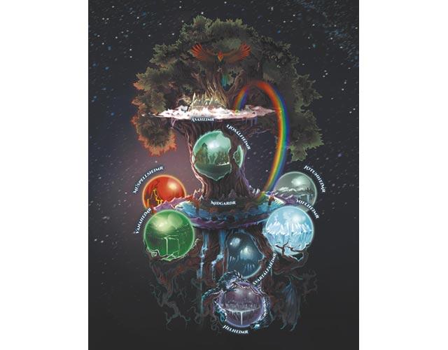 La struttura del Cosmo immaginata in Journey To Ragnarok