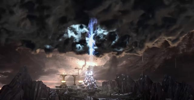 La morte di Zeus in God of War 3