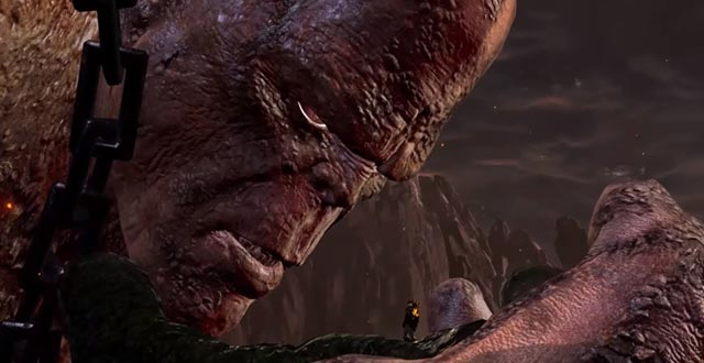 L'incontro fra Kratos e Crono in God of War 3