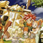 Iconica illustrazione di Toriyama che mostra il party del videogioco Chrono Trigger