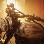Fotografia della Ducati Scramblers modificata, premio per il primo classificato del concorso SonyXDucati