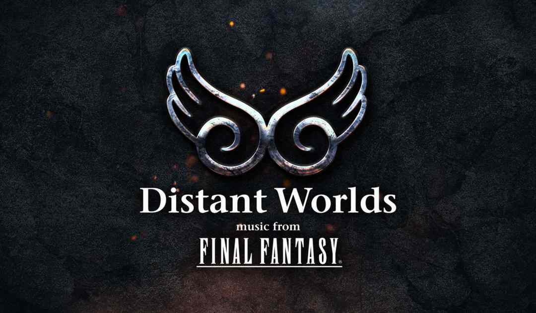 Logo della serie di concerti Distant Worlds music from Final Fantasy dedicata alla soundtrack dell'omonima serie