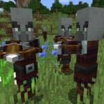 Screenshot dall'ultimo update di Minecraft che mostra i Pillagers