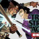 Copertina dello spin-off di No More Heroes, Travis Strikes Again