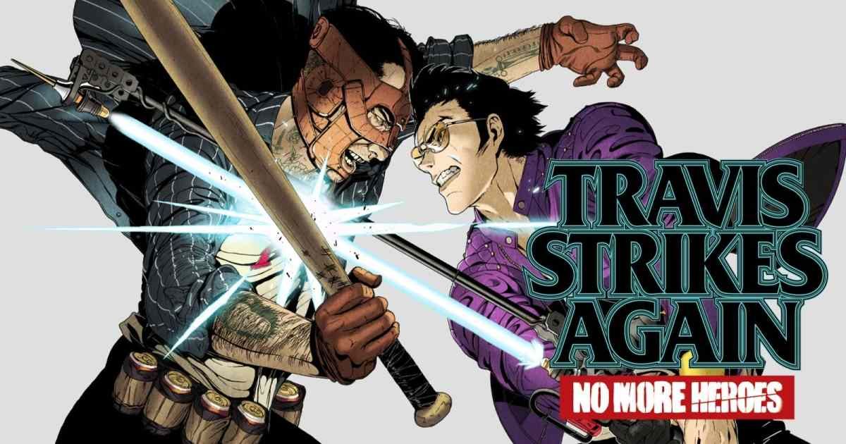 Copertina dello spin-off di No More Heroes, Travis Strikes Again