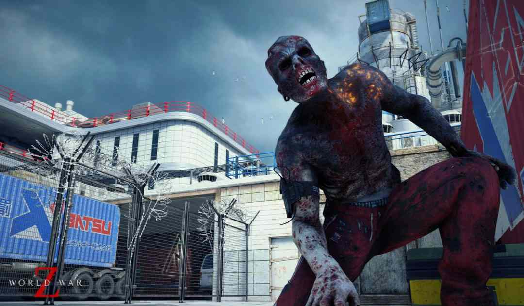 Screenshot di un Crawler, un infetto speciale di World War Z simile all'Hunter di Left 4 Dead