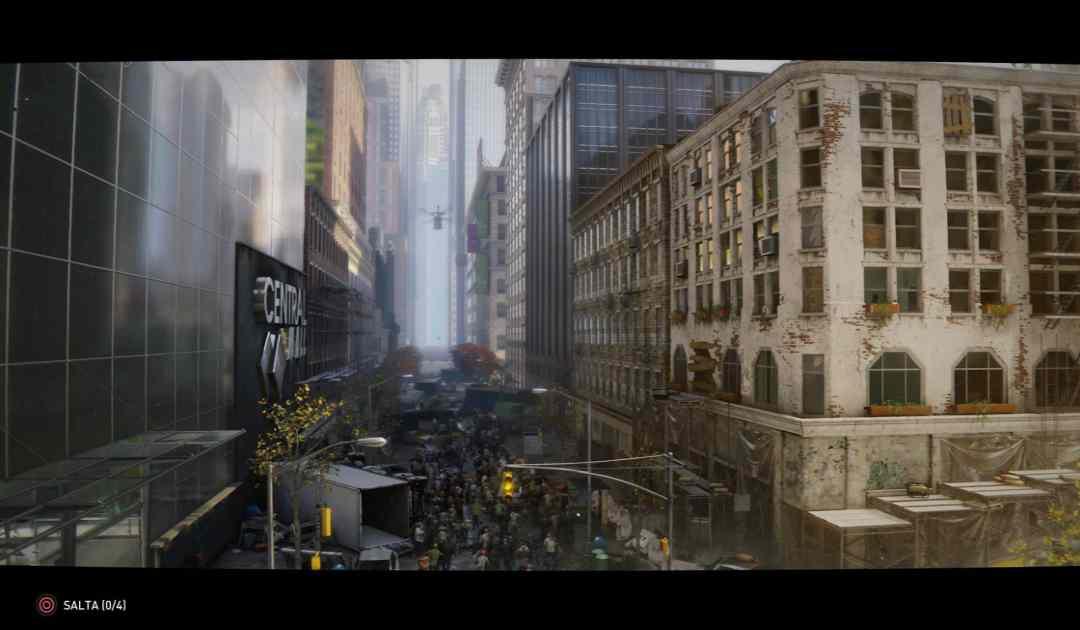 Screenshot che mostra il filmato di apertura della mappa New York di World War Z