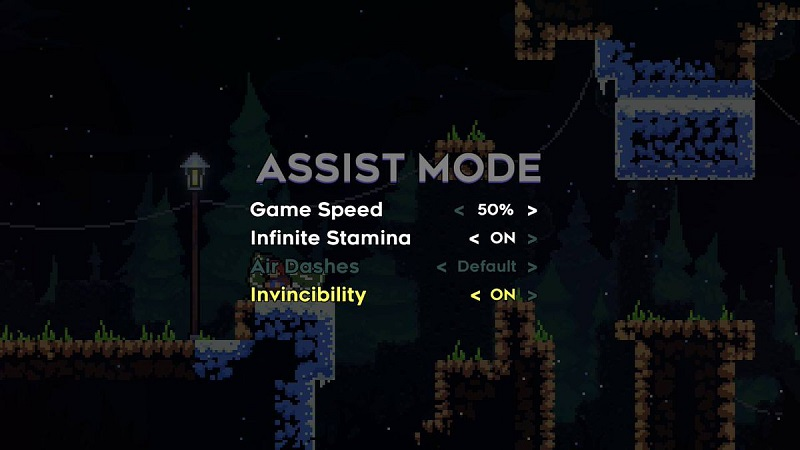 l'assist mode del gioco indie Celeste