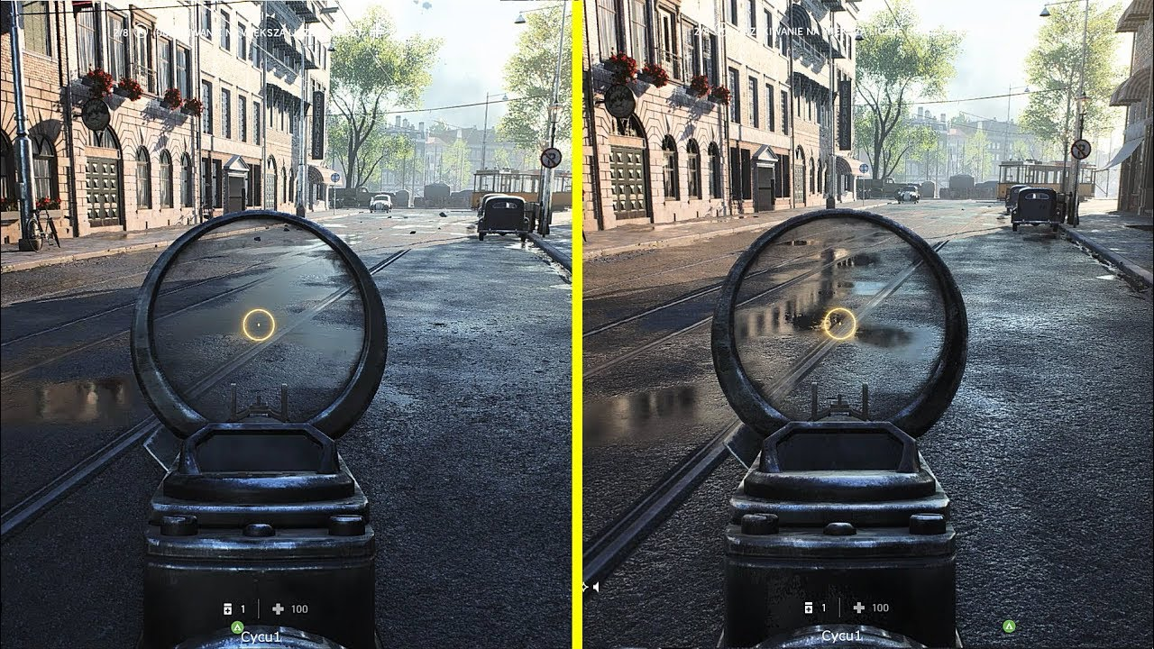 Screenshot che dimostra l'implementazione del ray tracing su Battlefield V