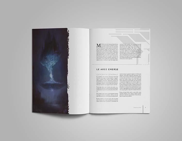 L'interno del manuale di Raam Scoria, un supplemento di Nostalgia: La flotta nomade