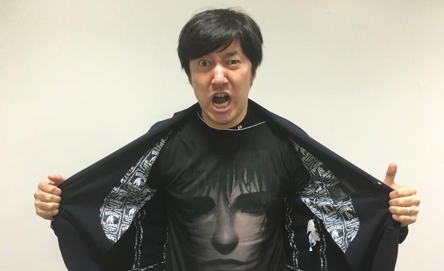 Fotografia raffigurante Goichi Suda, meglio conosciuto come Suda 51