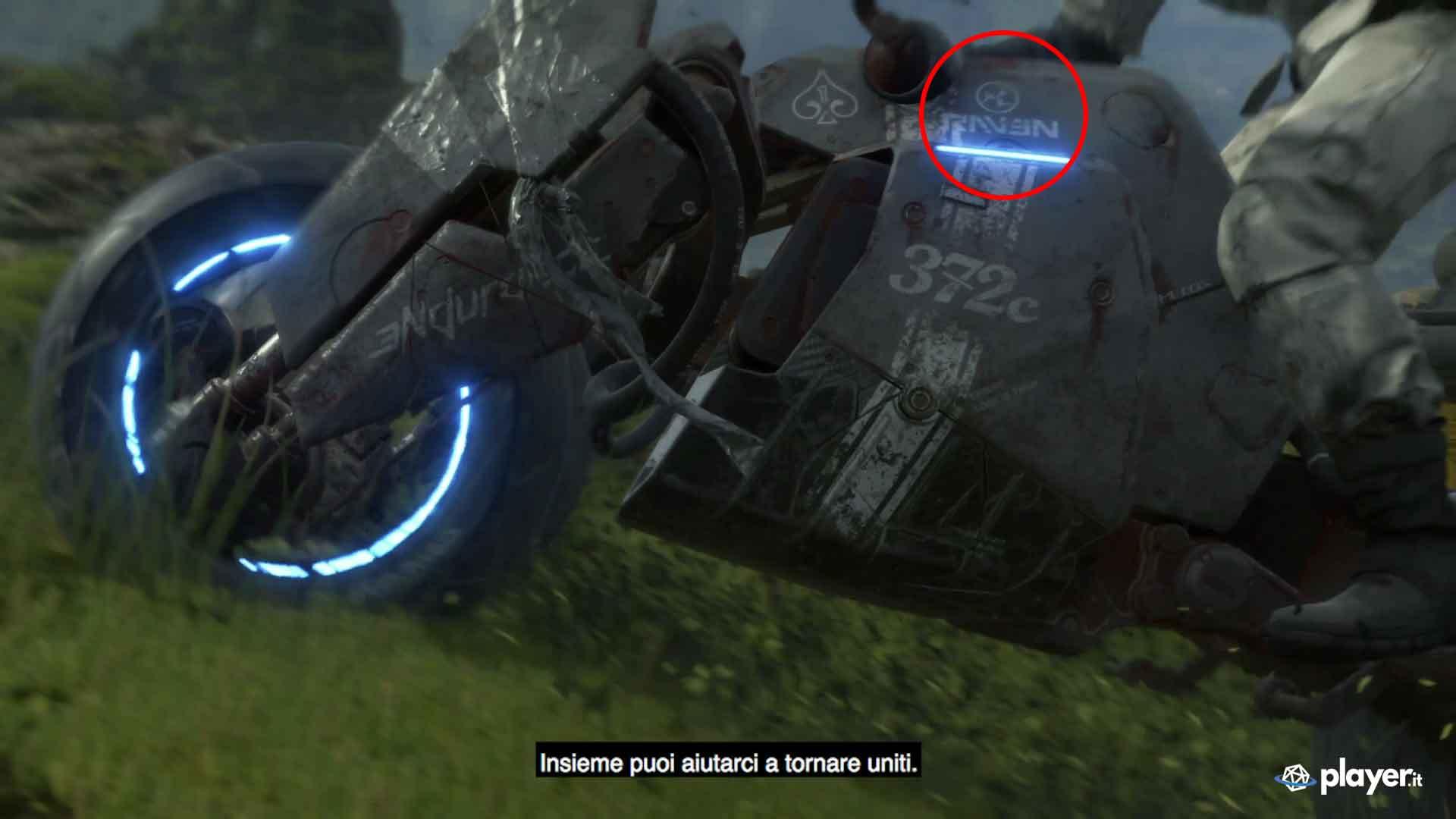Analisi-trailer-death-stranding-logo-raven-sulla-moto