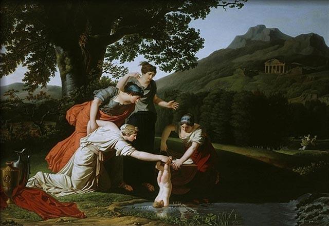 Antoine Borel - Teti immerge suo figlio Achille nelle acque del fiume Stige