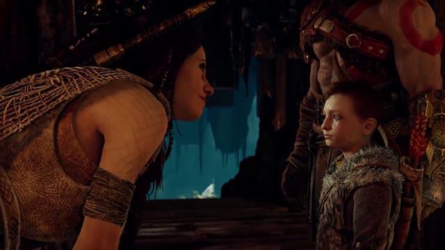 La Strega del Bosco, Freya, che assume quasi un ruolo materno per Atreus