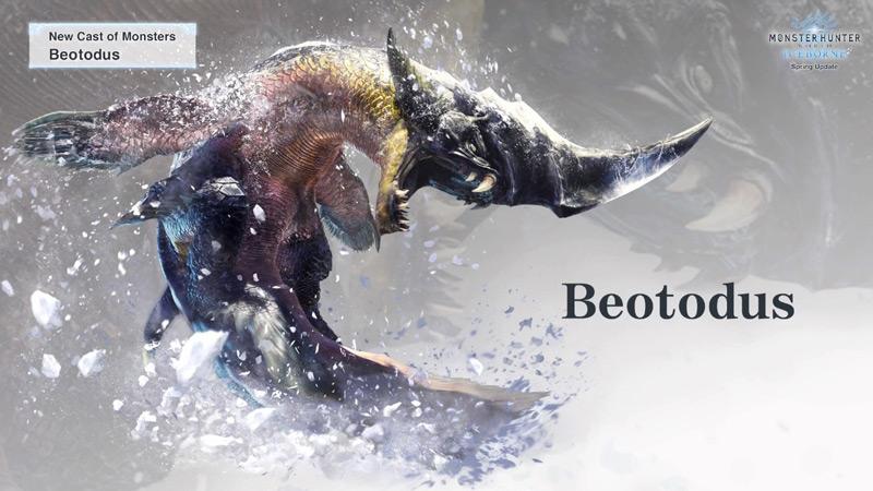 Monster Hunter World, Iceborn, Nuovi mostri, mostri glaciali, mappa ghiacciata, Banbaro, Beotodus, plesioth, zamtrios