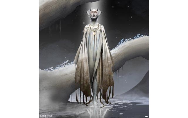 Una concept art degli elfi della luce di God of War (2018)