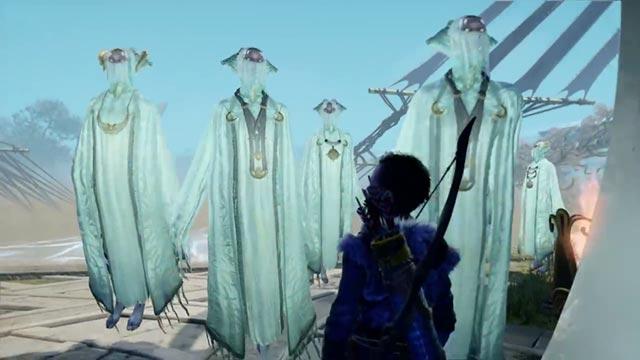 Kratos e Atreus incontrano alcuni Elfi luminosi di Alfheim