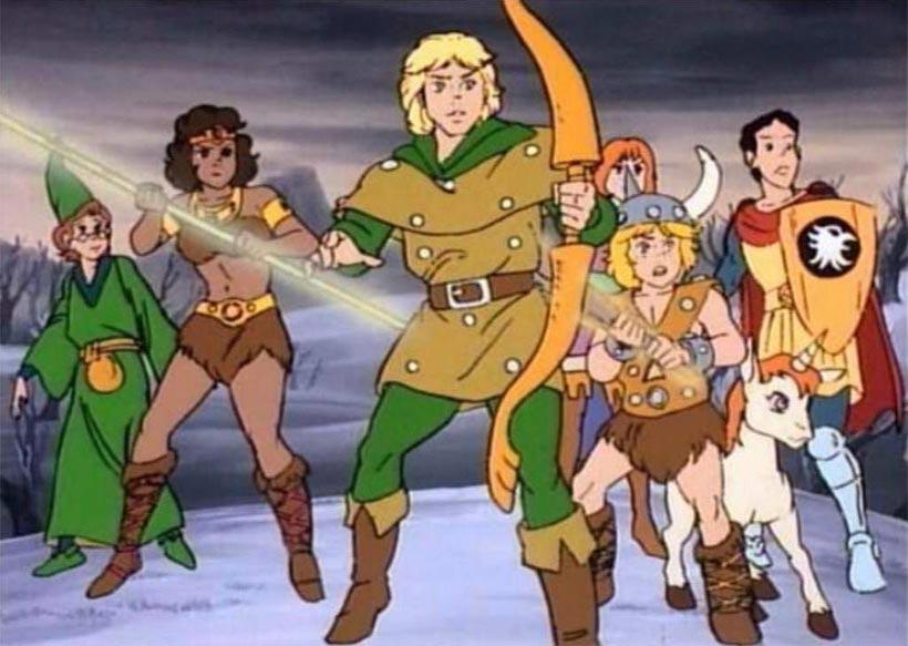 Gli eroi della serie animata ispirata a D&D