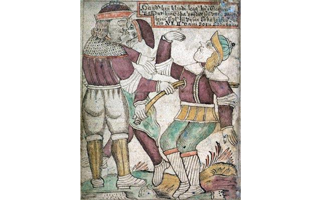 Jakob Sigurdsson - La morte di Baldr in un manoscritto islandese del XVIII secolo