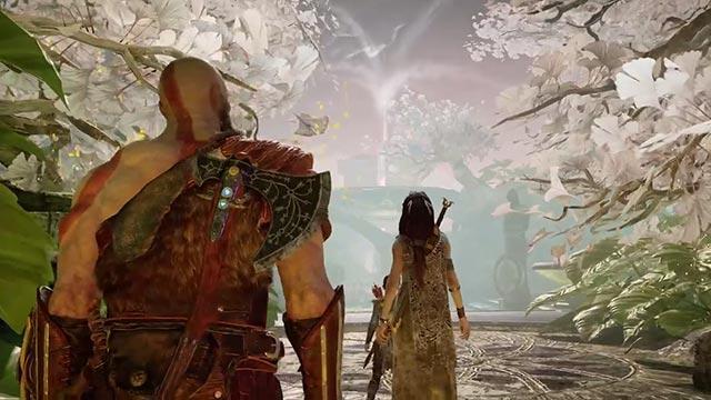 Freya accompagna Kratos e Atreus nel Reame di Alfheim