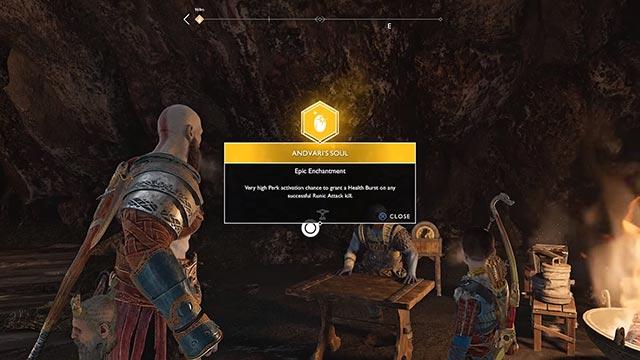 Grazie alla pietà di Atreus, Kratos sblocca il potere dell'anima di Andvari