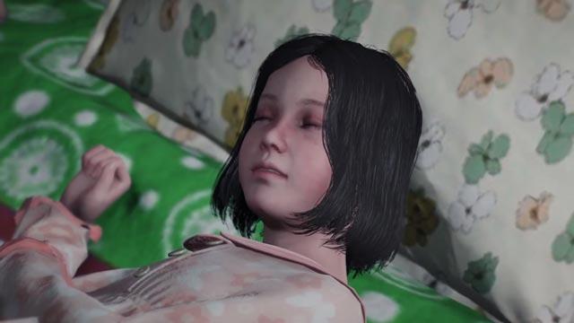 Lily Castellanos addormentata all'interno della realtà virtuale di Union