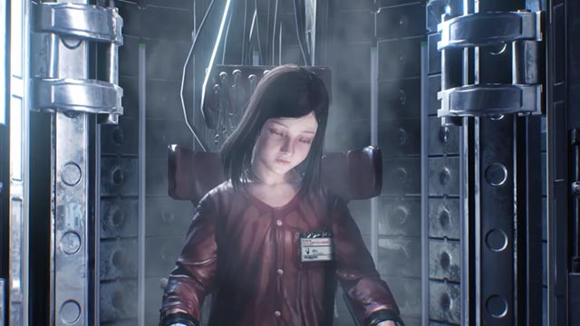 Lily connessa alla macchina STEM in The Evil Within 2