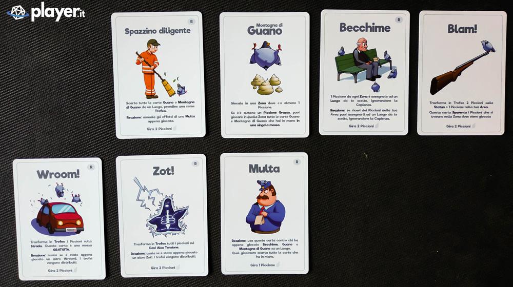 piccioni gioco di carte