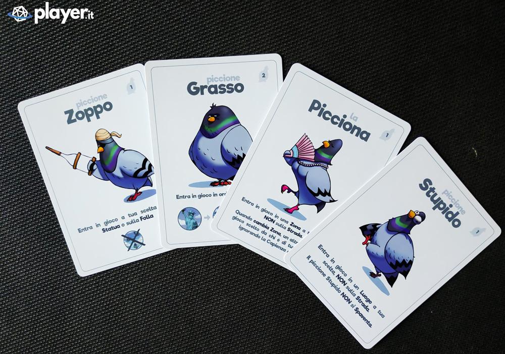 piccioni carte gioco