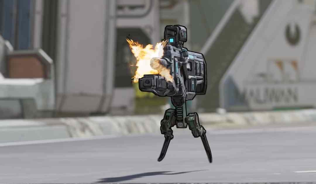 Screenshot dal trailer di annuncio di Borderlands 3 che ritrae un'arma che cammina