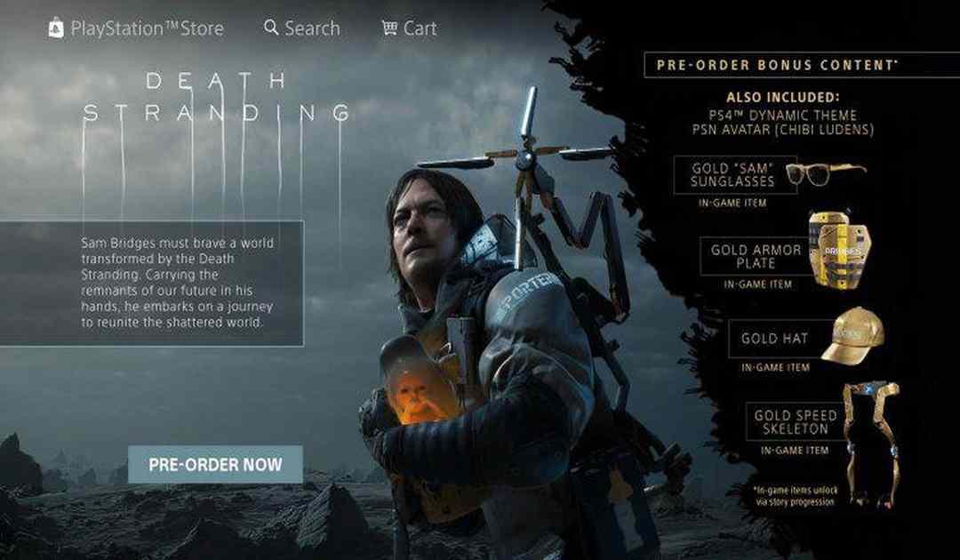 Screenshot pagina Playstation Store di Death Stranding