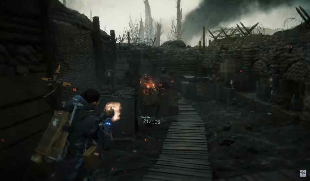 Frame dal nuovo trailer di Death Stranding che mostra una sessione di shooting nella dimensione degli Inferi