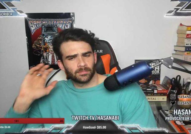 """Screenshot da una trasmissione di Hasan """"Hasanabi"""" Piker"""