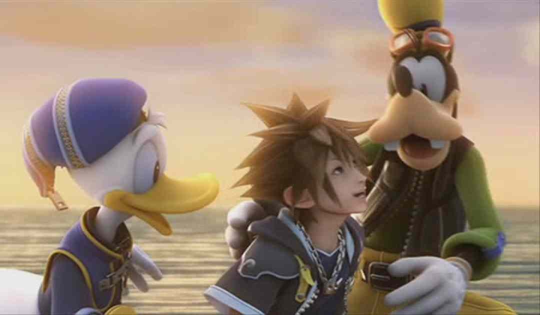 Screenshot dal finale di Kingdom Hearts 2